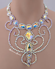 Ballroom Multi Crystal and Swirl Necklace
