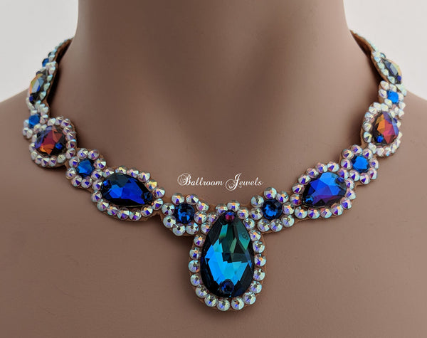 Ballroom Royal Design Crystal necklace - blue