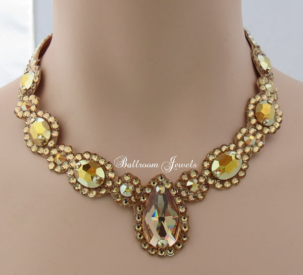 Ballroom Royal Design Crystal necklace - gold