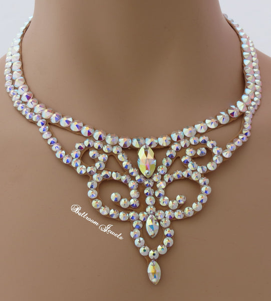 Ballroom Crystal Swirl Necklace