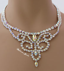 Ballroom Crystal Swirl Necklace - Swarovski Necklace - Ballroom Jewels - 1
