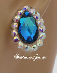 Swarovski Crystal Ballroom Blue Pear earrings - Earrings - Ballroom Jewels - 1