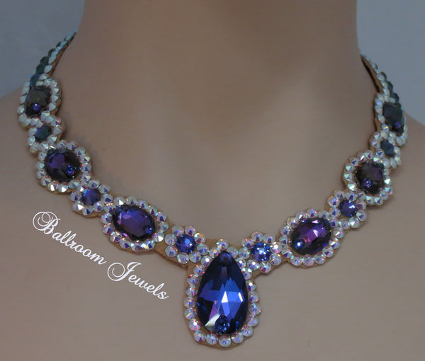 Ballroom Royal Design purple Heliotrope necklace