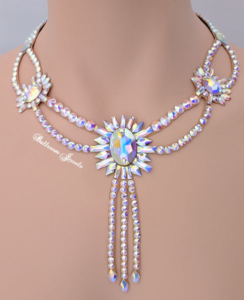 Ballroom Sunburst Swarovski  Crystal Necklace