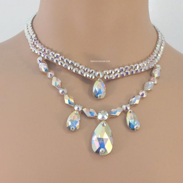 Swarovski Ballroom double drop Necklace