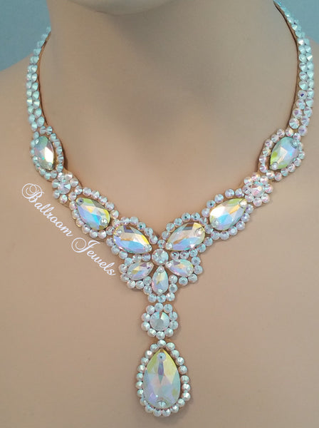 Ballroom Necklace Swarovski Pears and drop