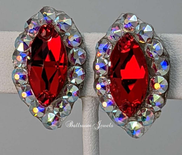 Swarovski Crystal Ballroom Light Siam Navette earrings
