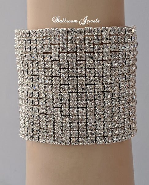 Crystal 15 row stretch bracelet