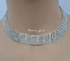 Crystal Multiple row necklace