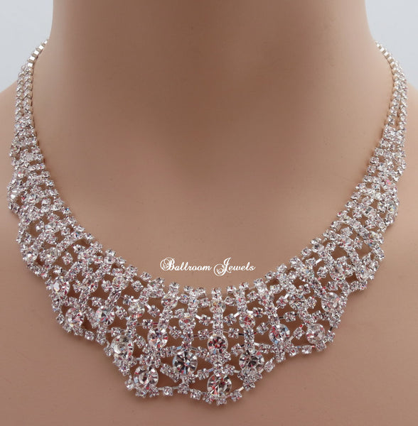 Crystal Collar necklace set