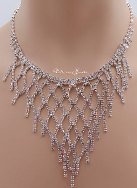 Crystal weave necklace set