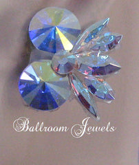 Double circle Swarovski earring - Earrings - Ballroom Jewels