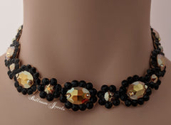 Gold and Black Ballroom Necklace