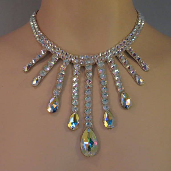 Ballroom Pear drop Swarovski necklace