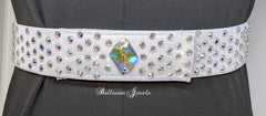 Silver Swarovski crystal belt with Cosmic center crystal