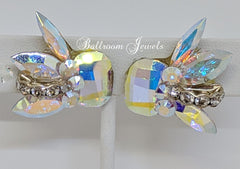 Ballroom Swarovski Crystal spray earrings