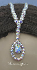 Swarovski split pear drop partline