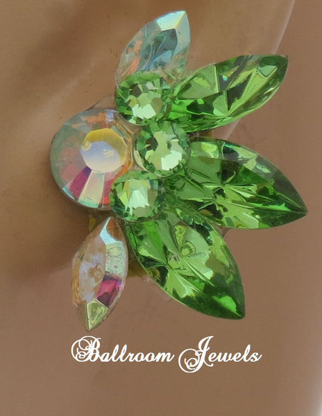 Swarovski Spray Crystal Ballroom earrings in peridot
