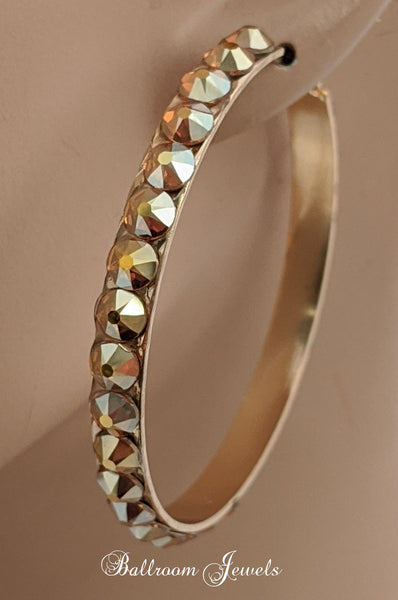 Swarovski Crystal Larger hoop earrings - Gold