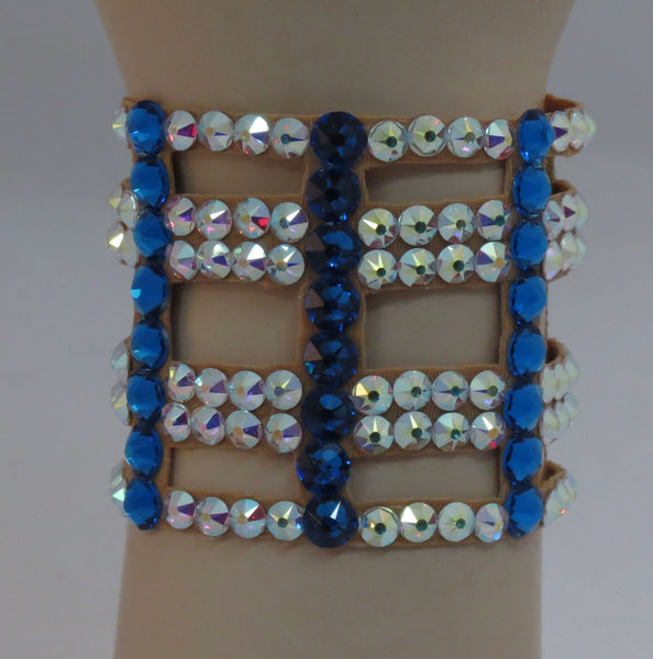 Ballroom Bracelet cutout in Crystal and Capri Blue