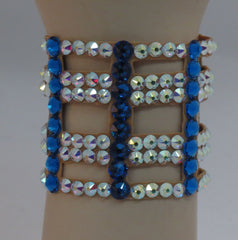 Ballroom Bracelet cutout in Crystal and Capri Blue - Swarovski Bracelet - Ballroom Jewels