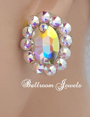 Crystal Oval Ballroom earrings - Earrings - Ballroom Jewels - 1