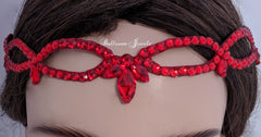Ballroom Swarovski Loop headband - Red - sponsor