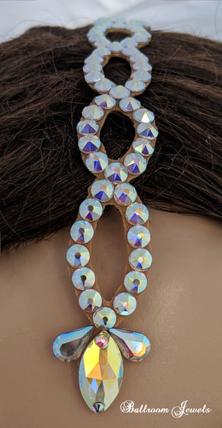 Swarovski loop and pear drop partline