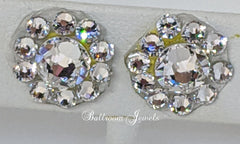 Swarovski Crystal Ballroom clear round earrings