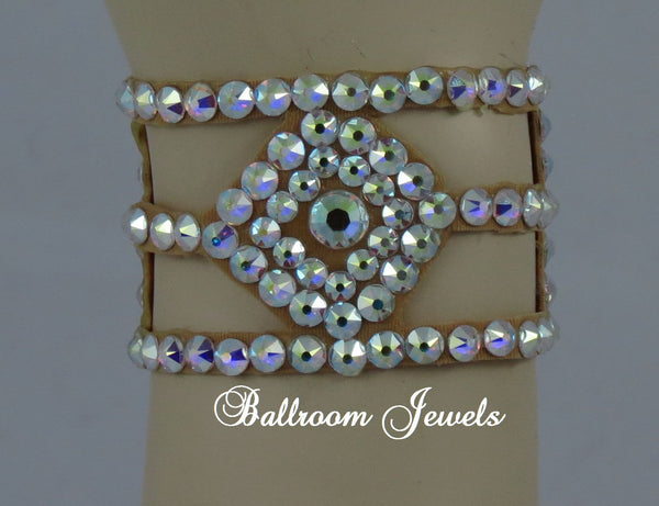 Diamond shaped Swarovski Crystal Ballroom Bracelet