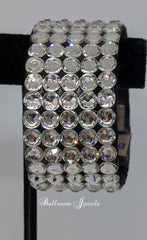 Swarovski Crystal 1 in Ballroom bracelet - clear and black