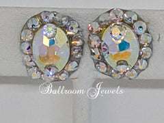 Swarovski Crystal Ballroom AB oval earrings