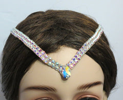 Swarovski double  hair line - Hair Accessories - Ballroom Jewels - 1