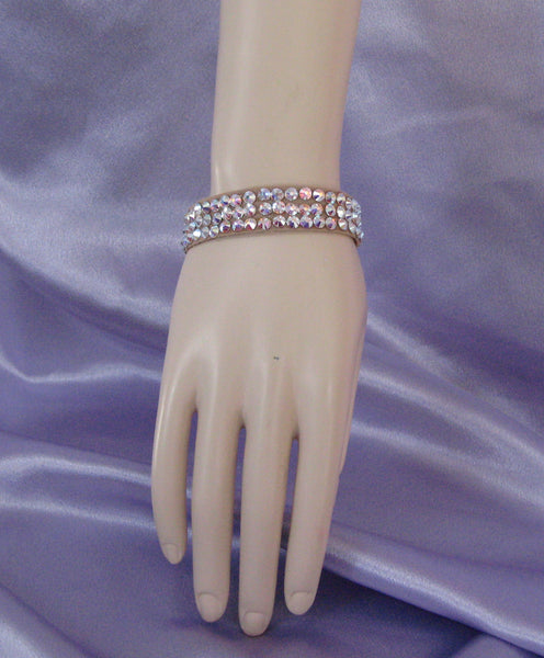 Swarovski Crystal Ballroom Bangle Bracelet ½ inch wide - many colors to choose from