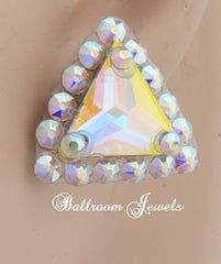 Triangle Swarovski Crystal Ballroom earrings - Earrings - Ballroom Jewels