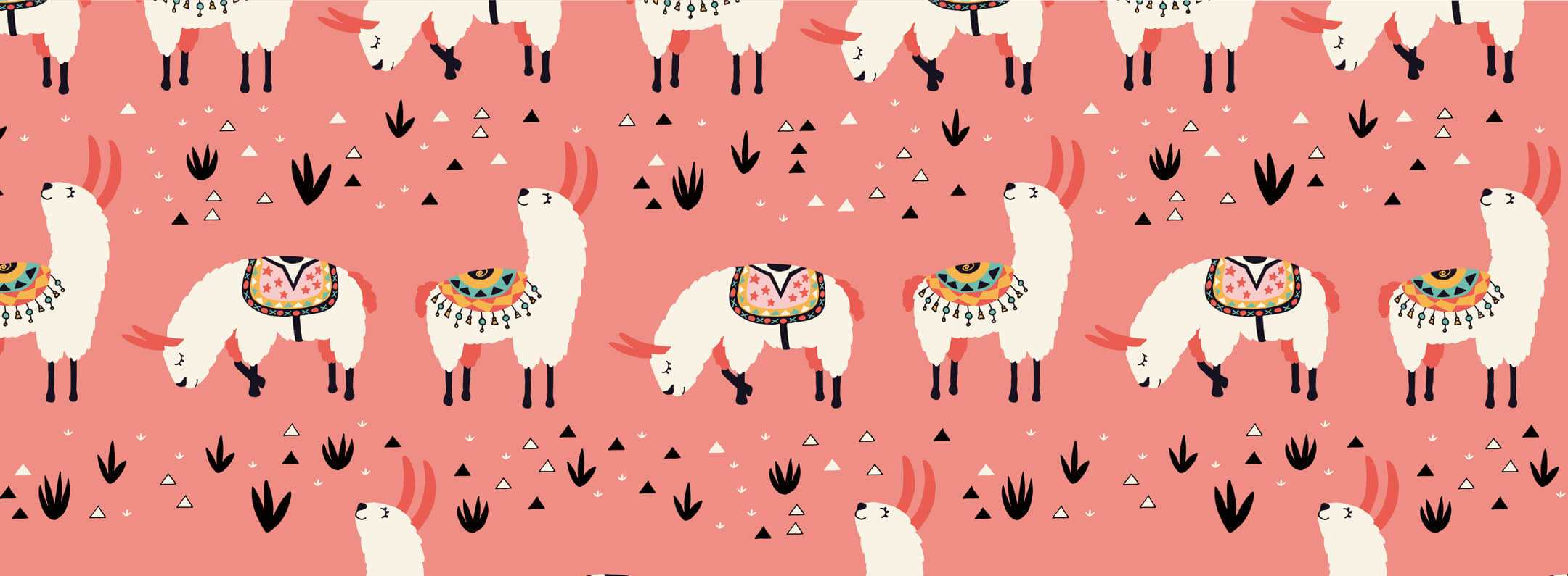 Colorful White Sheep with Grass Wallpaper Mural