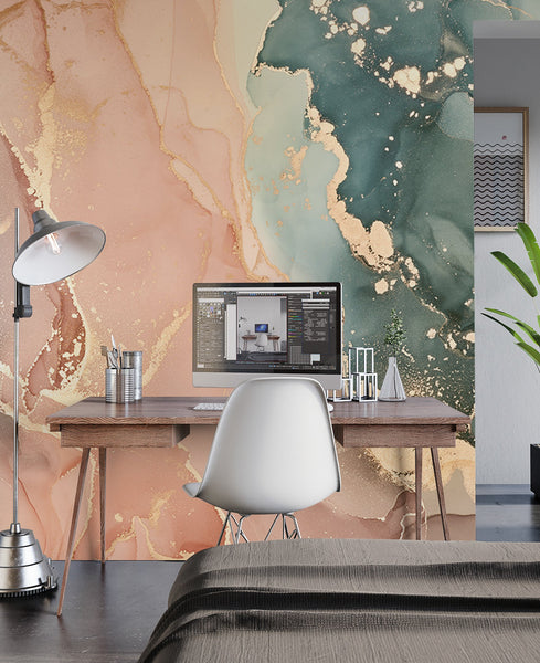 Home Office Marble Wallpaper