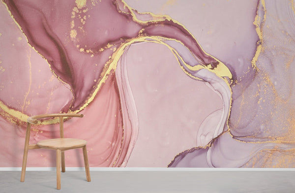 Pink Marble Wallpaper for Home Interior Design