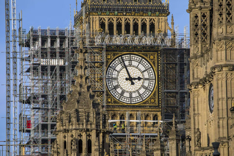 WADE BUILDING SUPPLIES | BIG BEN LONDON WITH SCAFFOLD AROUND