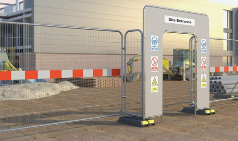 WADE BUILDING SUPPLIES | TEMPORARY FENCES WITH HIGH VISIBILITY SAFETY IN PLACE