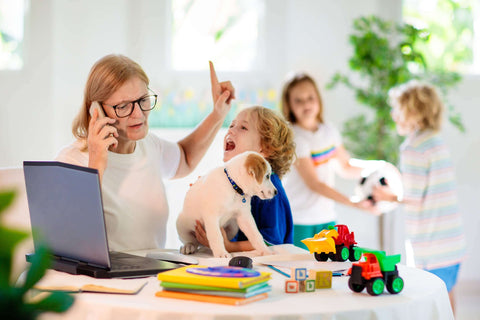 WADE BUILDING SUPPLIES | STRESS OF WORKING FROM HOME WITH FAMILY CHILDREN AND PETS