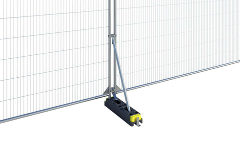 WADE BUILDING SUPPLIES | RUBBER BLOCK STABILISER FOR TEMPORARY FENCE PANEL