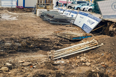 WADE BUILDING SUPPLIES | STEEL HOARDING ON CONSTRUCTION SITE BLOWN OVER IN WIND