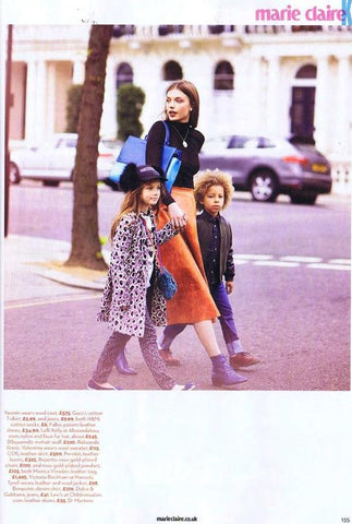 Peridot Bitburg skirt as seen in the August 2014 issue of Marie Claire UK
