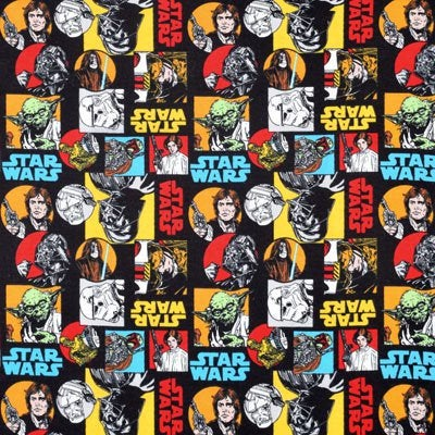 1/2 Yard Star Wars Cartoon Cotton Characters Fabric