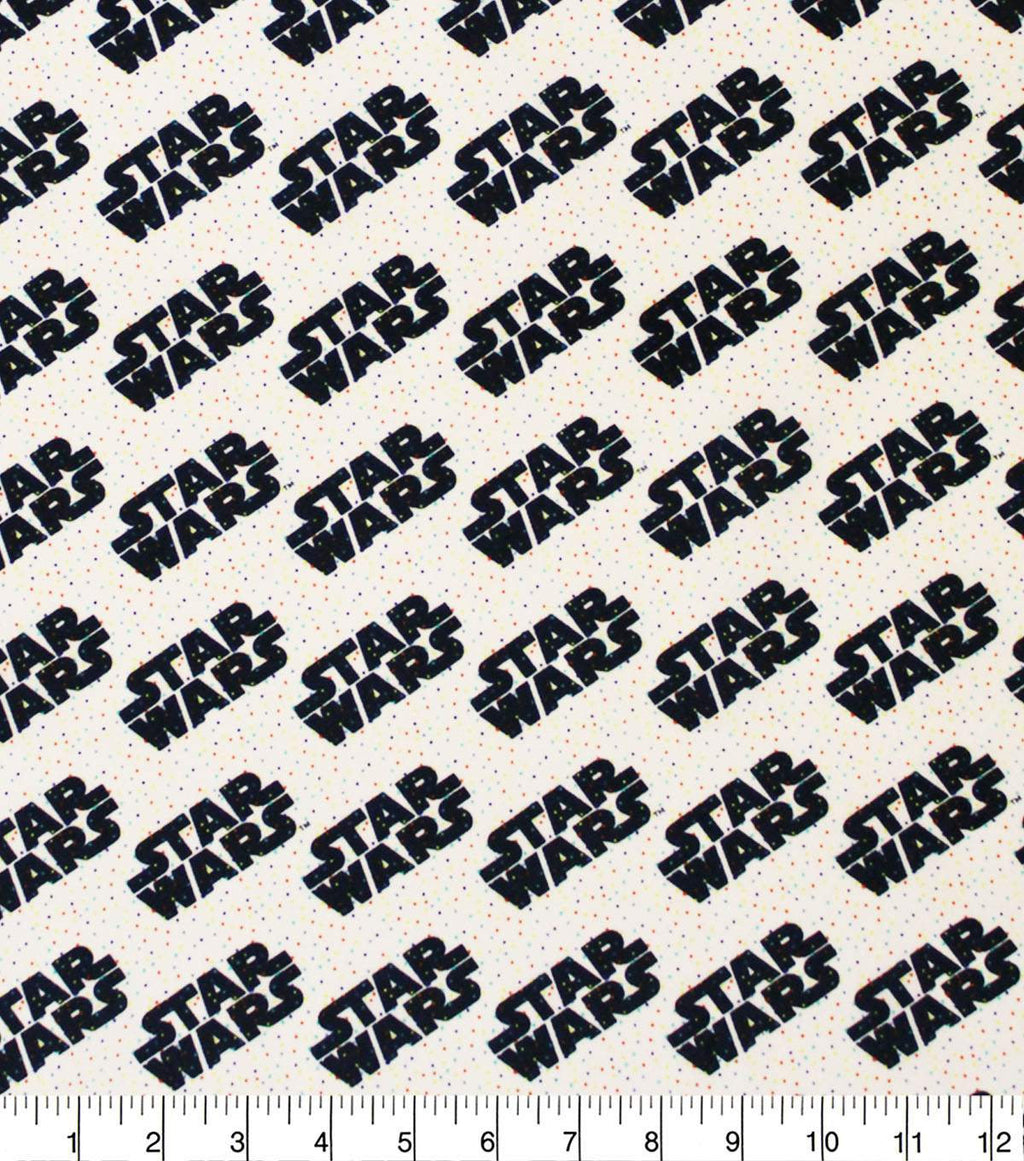 1/2 Yard Star Wars Rainbow Tiny Dots Logo Classic Movie Cotton Fabric Droid Colorful Han Solo Chewbacca Confetti Sprinkles