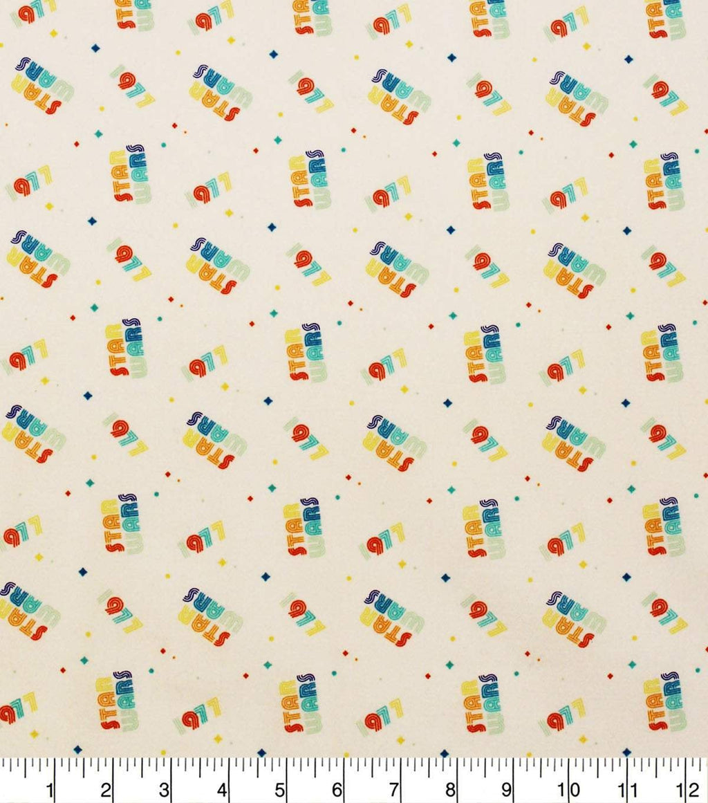 1/2 Yard Star Wars Rainbow 1977 Classic Movie Cotton Fabric