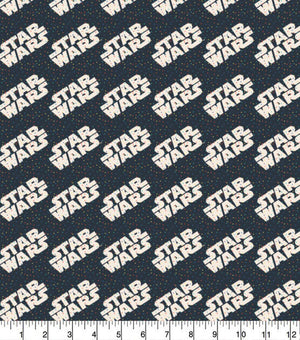 1/2 Yard Star Wars Rainbow Tiny Dots Navy Logo Classic Movie Cotton Fabric Droid Colorful Han Solo Chewbacca Confetti Sprinkles