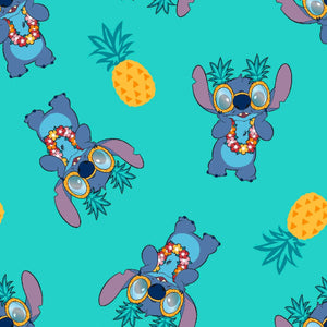 Lilo and Stitch Pineapple Ohana Means Family Cotton Fabric Comic Disney