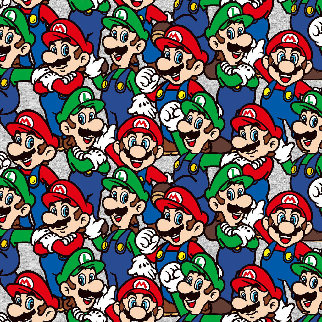 Nintendo Super Mario Brothers Mario Power Cotton Fabric Characters Video Game Fabric